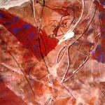 Angyalállat / Anima Libera, 2005 akril, papír / acrylic on paper 100x70 cm