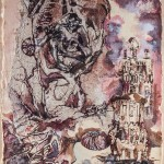 Lesz-e bárka? / Will there be a barge?, 2001 tus, merített papír / ink on handmade paper 45x32 cm