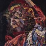 Önarckép II. / Self-portrait, 2003 olaj, fa / oil on wood 70x50 cm